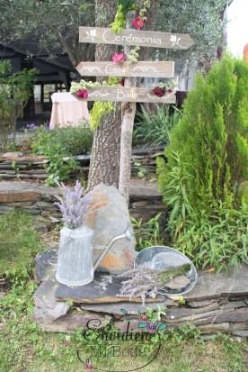 Carteles en madera boda campestres