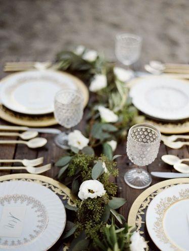 Decoración de mesas para navidad bodas en invierno