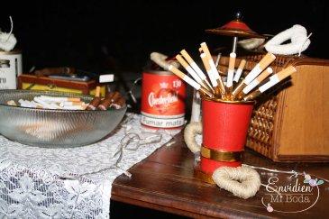 Boda de Marta & Alberto: Cigar Bar pitillera de mesa años 60