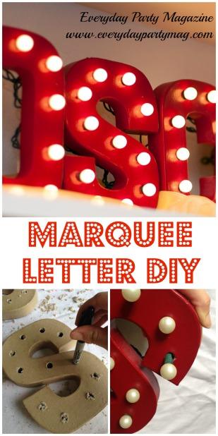 Marquee-Letter-DIY: tutorial como hacer unas letras con luces