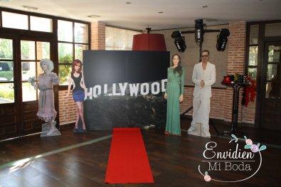 Photocall de las bodas envidiosas realizado por envidienmiboda