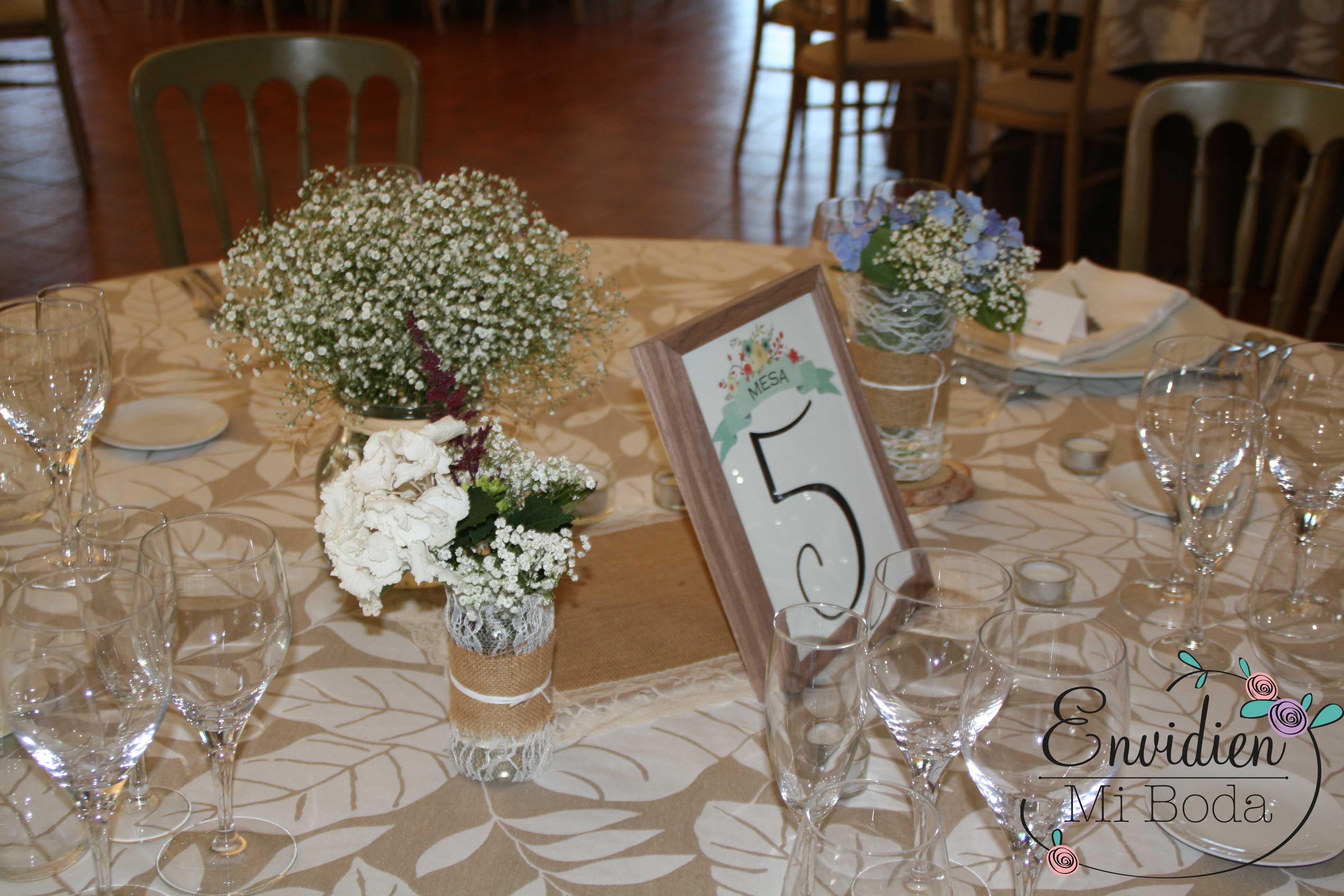 La boda de marta alberto centros de mesa y mesa - Centros para mesa ...