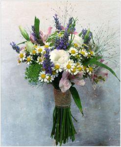 Flores silvestres para ramos de novia
