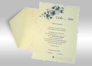 Invitaciones románticas para bodas románticas