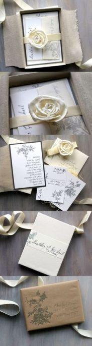 Invitación de boda clásica y elegante