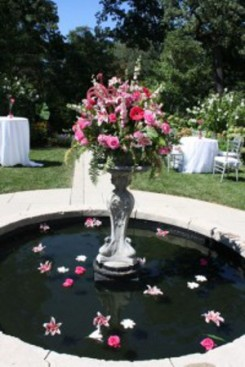Arreglos florales fuentes de agua 4