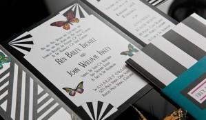 invitación de boda con mariposas