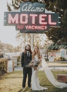 Una boda autentica en un motel