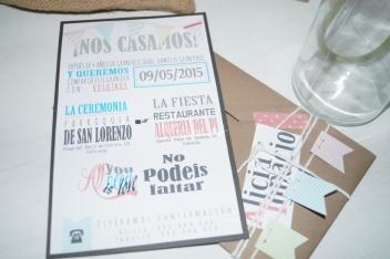 Invitaciones de boda basadas en tipografias