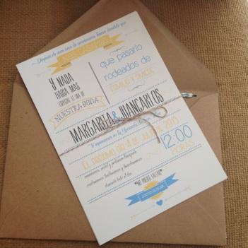invitaciones de boda con tipografías modernas