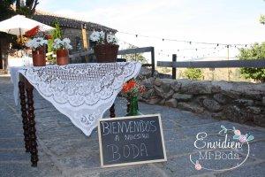 Detalles de la boda rústica en la sierra de madrid de v y á