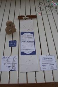 Invitación de boda de Lorena & Sergio creada, diseñada e impresa por Padi