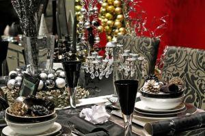 Mesas de navidad en tonos negros