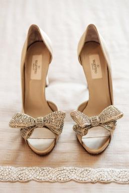 De valentino. Zapatos dorados