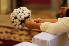 ramos de novia de algodon para novias de invierno