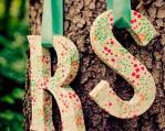 decoración de boda con letras 7