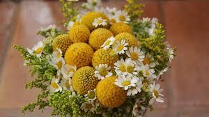 ramo de novia rústico en tonos amarillos y blancos