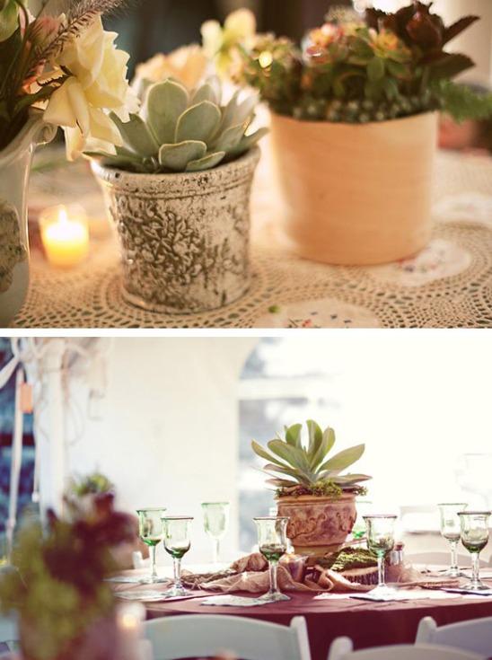 decoración de boda con macetas12