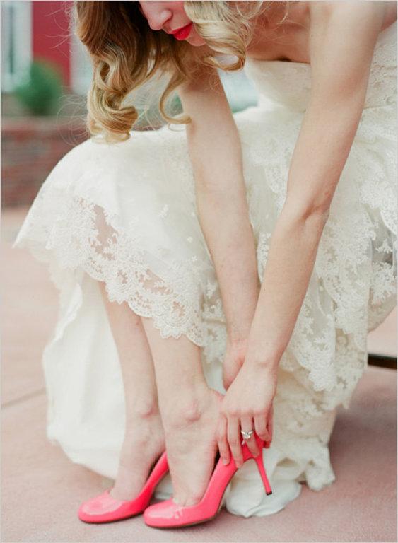 color en los zapatos de novia   envidien mi boda