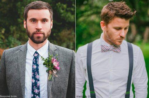 Novio-boho-chic-corbatas-prendidos-pajaritas