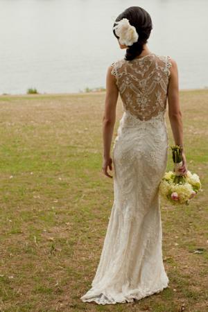 Vestido de novia escote espalda encaje 20