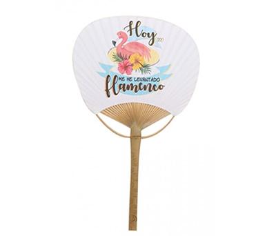Pai-pai-de-bambú-tropical-modelo-flamenco-con-frase-divertida-como-complemento-en-bodas-o-eventos-para-días-calurosos