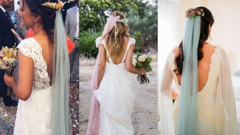 velos de novia de color 2