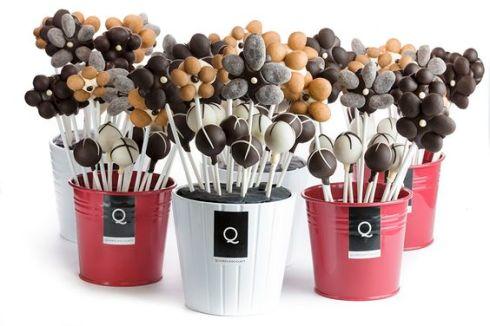 chocolate para mesas de bodas