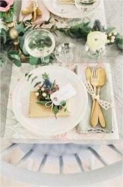 Detalles en mesas de banquete