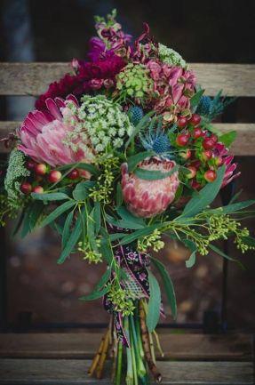 ramos de proteas novias