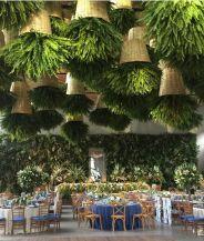 decoración techos con helecho